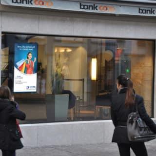 Ecran vitrine pour les banques