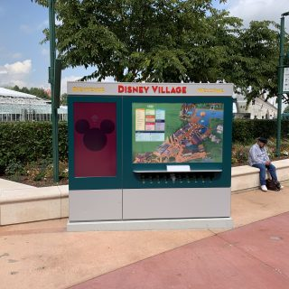 Ecran d'informations dans le disney village
