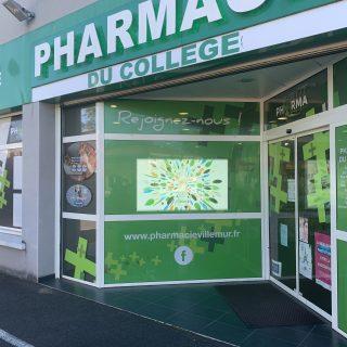 Ecran vitrine pharmacie 5500nits Pharmacie Villemur