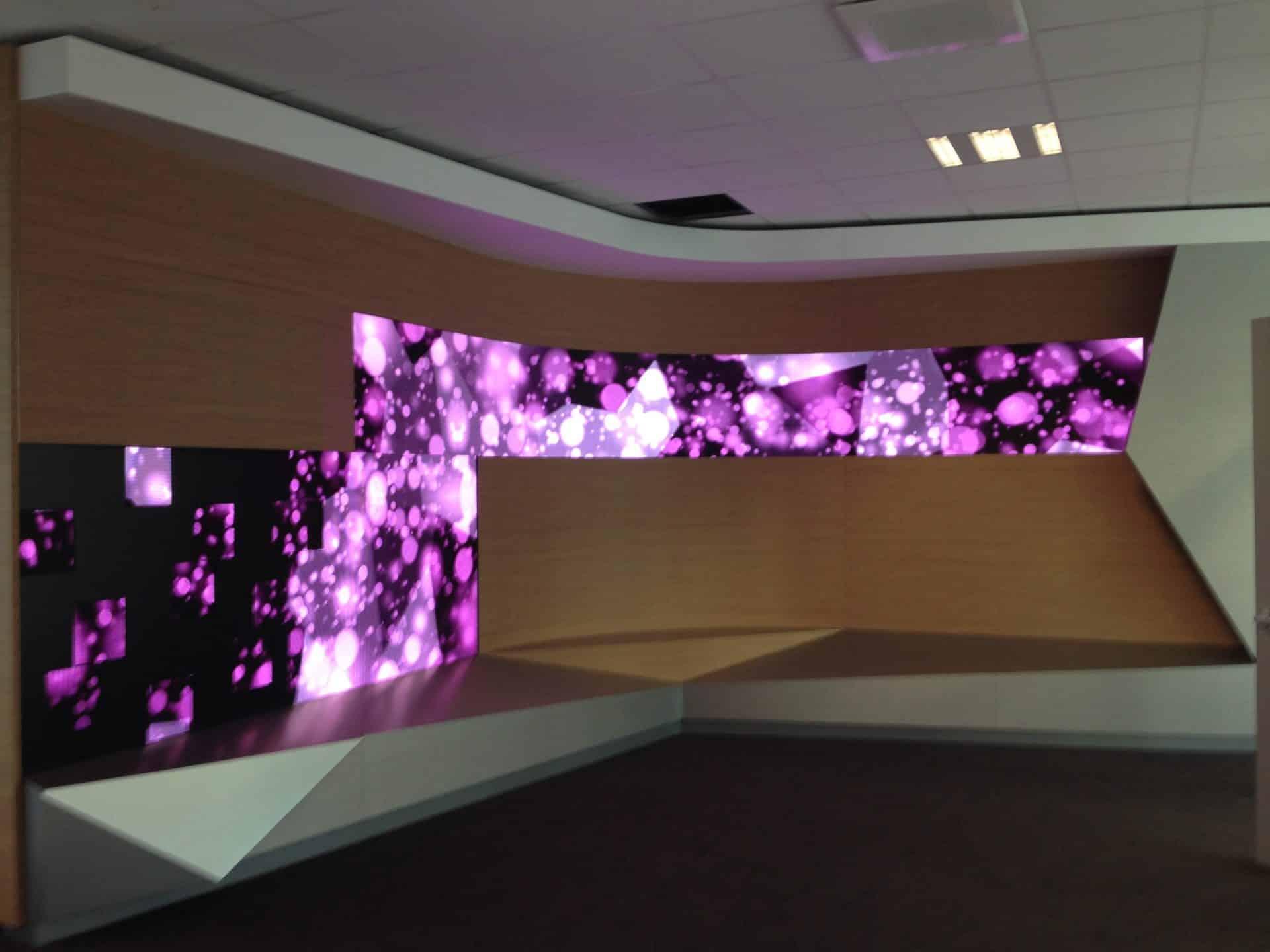 mur vidéo led interieur