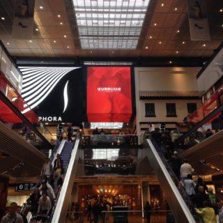 Vue de l'écran architectural centre commercial