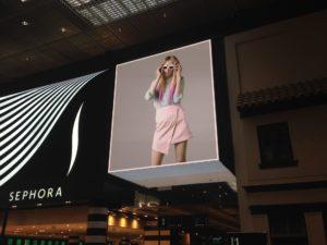 Écran LED intérieur de la galerie marchande Euralille