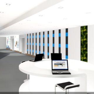 Simulation avant projet ecran geant led architectural