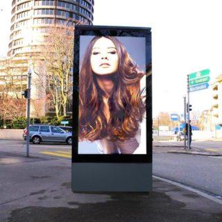 Ecran d'affichage digital ville