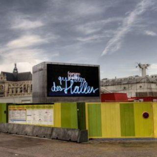 Ecran geant exterieur Paris Les Halles