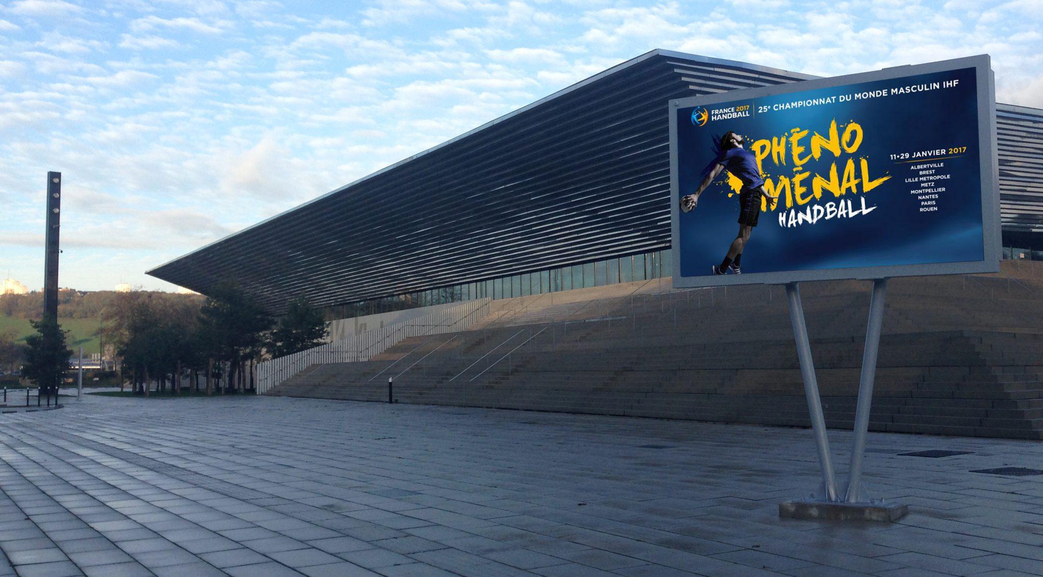 Panneau publicitaire led de Rouen