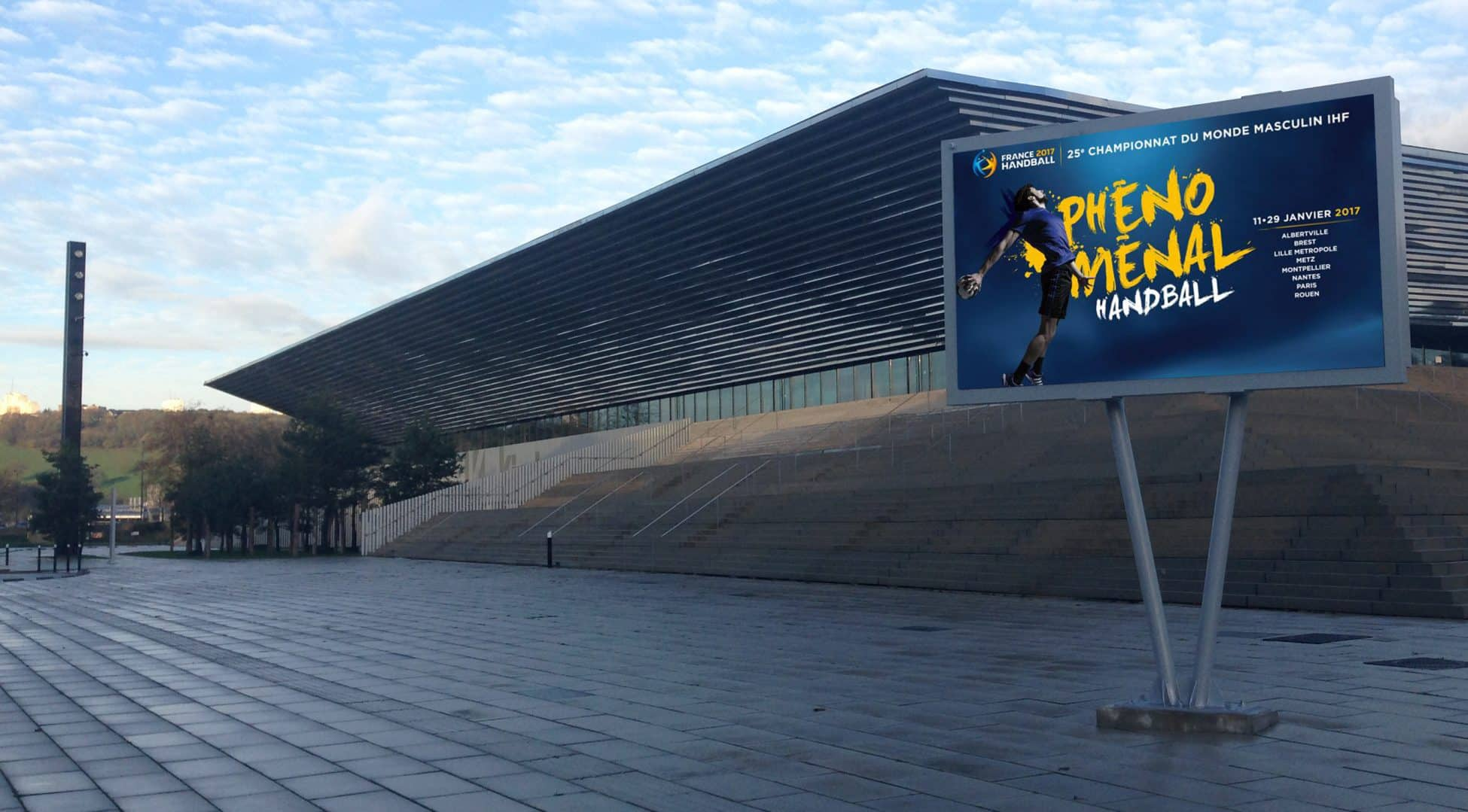 Panneau vidéo led de Rouen