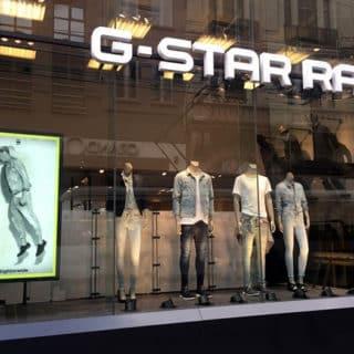 Ecran tres haute luminosite boutique Gstar