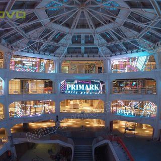 ecran led transparent centre commercial