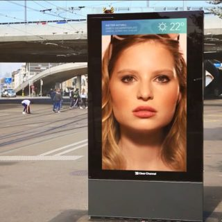 Totem video LCD urbain