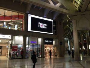 Écran géant intérieur Paris Forum des Halles