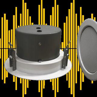 Haut-parleur encastré pour sonorisation de sécurité EN 54-24