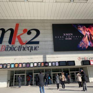 Facade cinema mk2 avec ecran geant