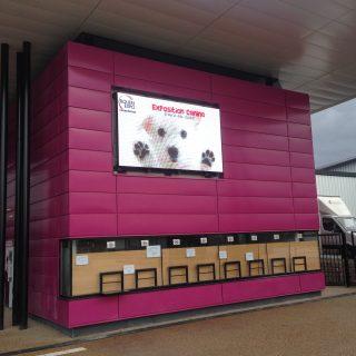 Ecran LED en facade du Parc des expositions de Rouen