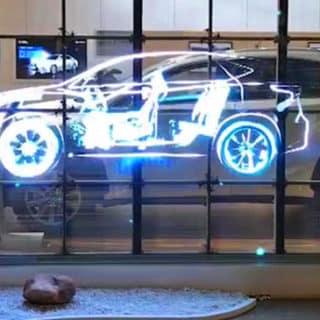 Ecran LED transparent concession automobiles
