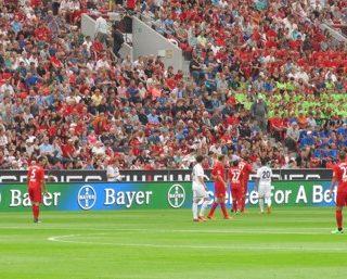 Panneau LED bord de stade en Allemagne