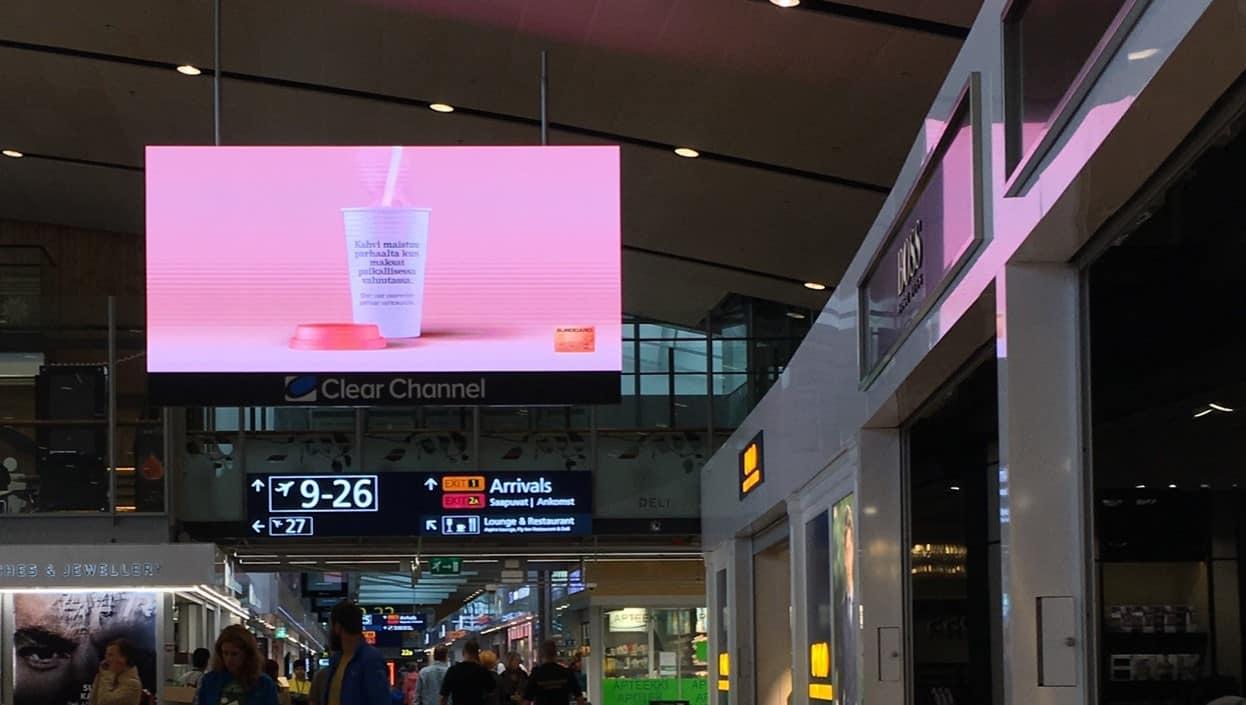 Mur d'images led centre commercial
