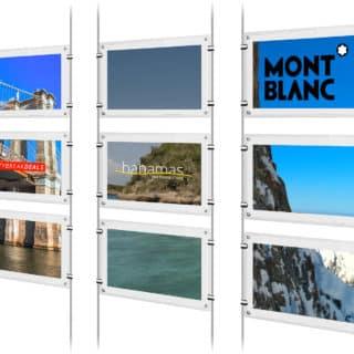 Agence immobilière affichage dynamique en vitrine
