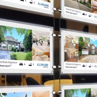 écran spécifique a l'utilisation en agence immobilière