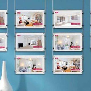 Ecran vitrine pour agence immobiliere