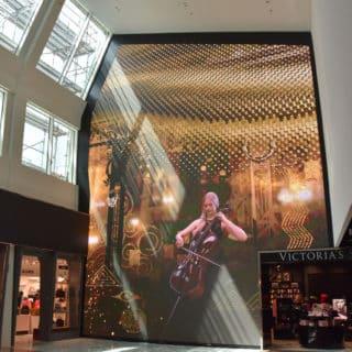 Mur vidéo led realisation aeroport de vienne