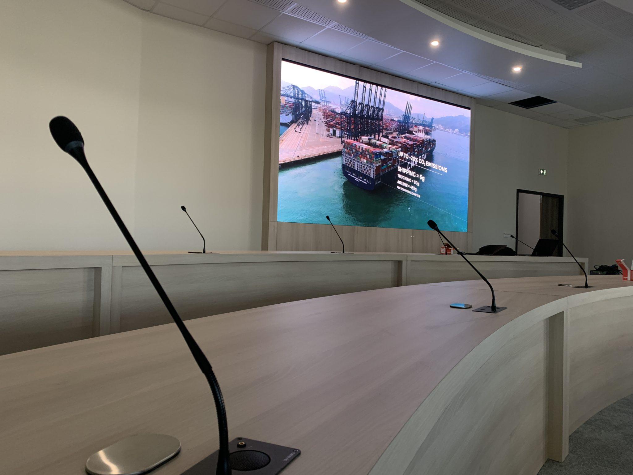 Ecran salle de réunion Groupama Marseille