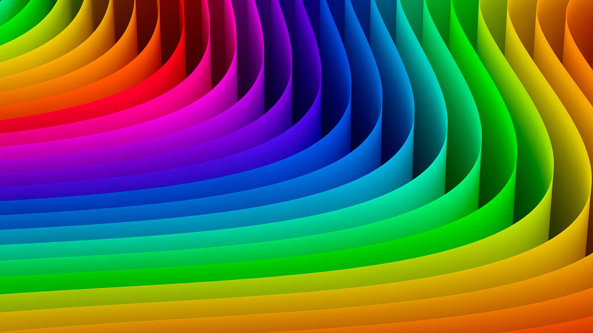 Niveaux de couleurs ecran geant