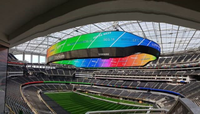 Panneau video led stade US