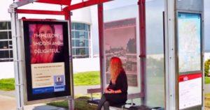 Publicite ciblee sur affichage digital abris bus