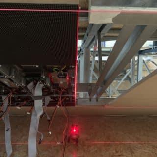 Alignement d'un ecran geant modulaire à brest