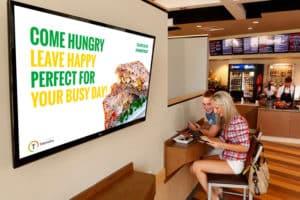 contenus écran restaurant